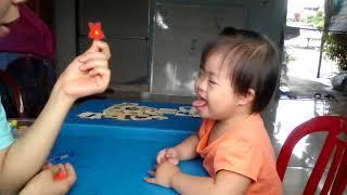 Dạy trẻ chậm nói_bé học nhận thức màu sắc, hình và số