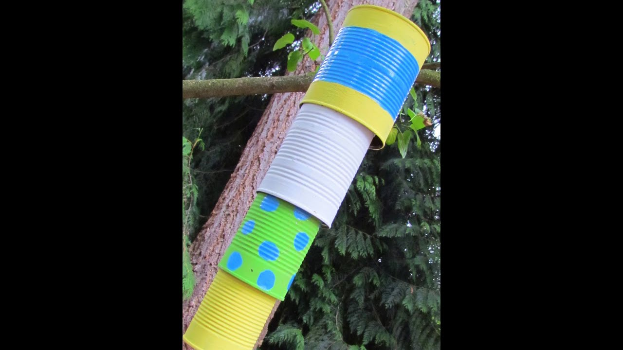 Chime Sign In >> How to make a Wind Chime reusing tin cans! Can Chime - YouTube