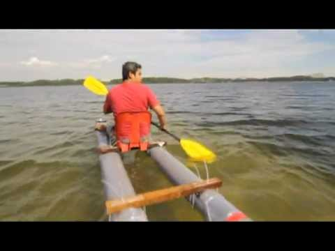 Pvc Pipe Kayak Youtube