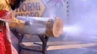 ULTRA HIGH PRESSURE WATER CUTS THROUGH LOG 800-666-1992