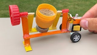 How to Make a Cement Mixer   DIY Realistic Miniature Cement Mixer #Projects_HDFr
