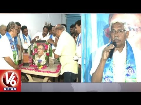 TJAC Chairman Kodandaram Pays Tributes To Prof Jayashankar On His Birth Anniversary | Hyderabad | V6