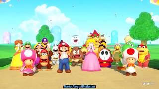 Super Mario Party Minigames (Funny Videos for Babies Cartoons)