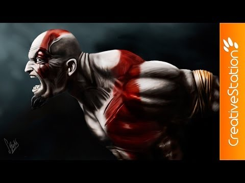 Kratos / God of war - Speed Painting (#Photoshop) | CreativeStation