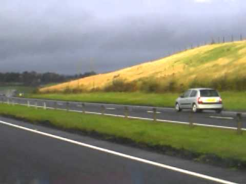 crazy guy driving the wrong way up the A726