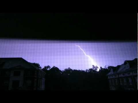 Washington DC Thunder Storm Lightning Strike, Rain and Wind!