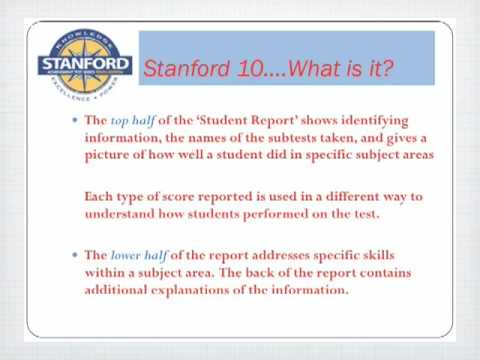 Stanford Acheivement Test_Cushman School