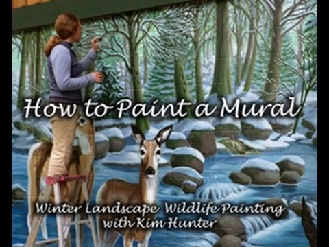 how to paint a mural step by step winter landscape youtube. Black Bedroom Furniture Sets. Home Design Ideas