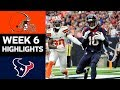 Browns vs. Texans | NFL Week 6 Game Highlights