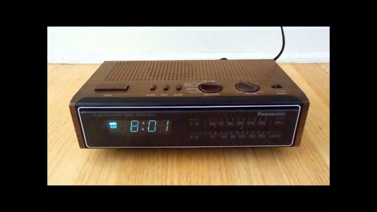 panasonic digital alarm clock radio rc 6115 vintage 1980s electronics youtube. Black Bedroom Furniture Sets. Home Design Ideas