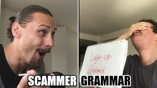 More Word Games with Scammers   SCAMMER GRAMMAR with Trilogy Media!