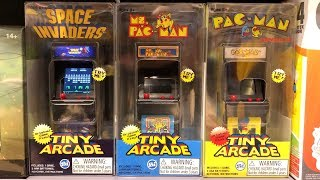 Tiny Arcade Galaxian / Ms. Pac-Man / Pac-Man / Space Invaders Miniature Arcade Game | Quick Look【4K】