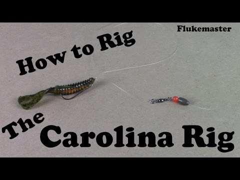 How To Tie A Carolina Rig - Bass Fishing video