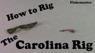 How to Tie a Carolina Rig - Bass Fishing