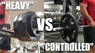 "Heavy ""Ego Lifting"" Vs. Slow/Controlled: Which Is Better?"
