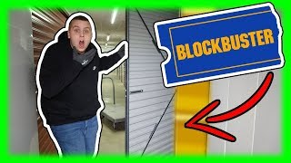 Blockbuster Had A Storage Unit? What's Inside? I Bought An Abandoned Storage Unit