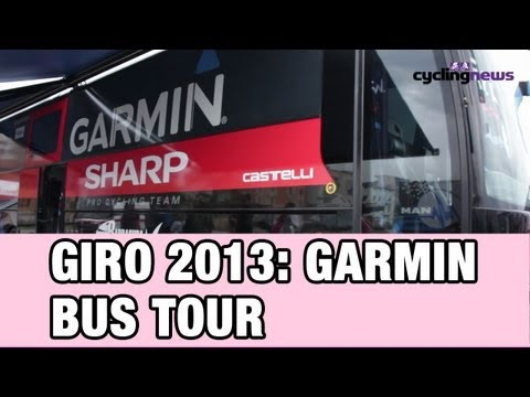 Giro 2013: Tour of the Garmin Sharp Team Bus