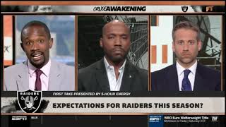 Louis Riddick OVERWELMED Expectations for Raiders this season   FIRST TAKE 7 17 2019