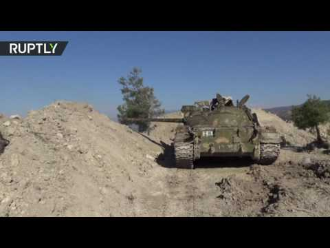 RAW: Syrian army launches offensive against militias in Latakia