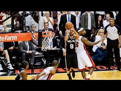 Tony Parker's INCREDIBLE buzzer-beater at 120 frames per second!