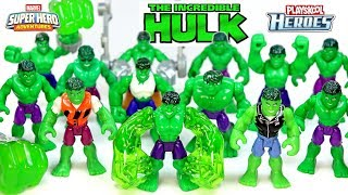 Every Hulk Marvel Super Hero Adventures Figure Col