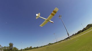 Hi-start Towing an RC Glider With No Bungee or Help