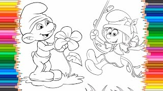 The Smurfs Coloring Pages For Kids To Learn Colors | Learning Colors For Kids
