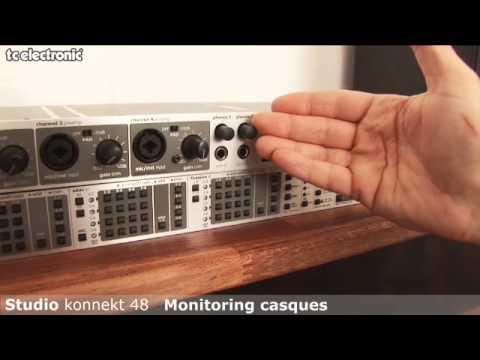 interface audio Studio Konnekt 48 de TC Electronic : monitoring casque