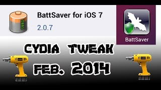iOS 7 Jailbreak Tweak 2014: BattSaver for iOS 7-DOUBLE BATTERY LIFE