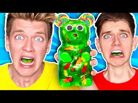 Mixing Every Sour Candy! WORLDS SOUREST GIANT GUMMY Learn How To Make DIY Food Prank Challenge