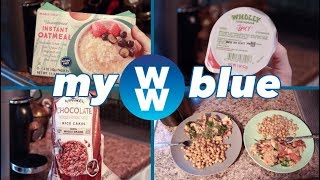 WHAT I EAT IN A DAY TO LOSE WEIGHT ON WEIGHT WATCHERS MYWW BLUE l Finding Bliss