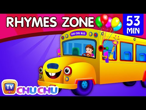 Wheels On The Bus | Popular Nursery Rhymes Collection For Children | Chuchu Tv Rhymes Zone video