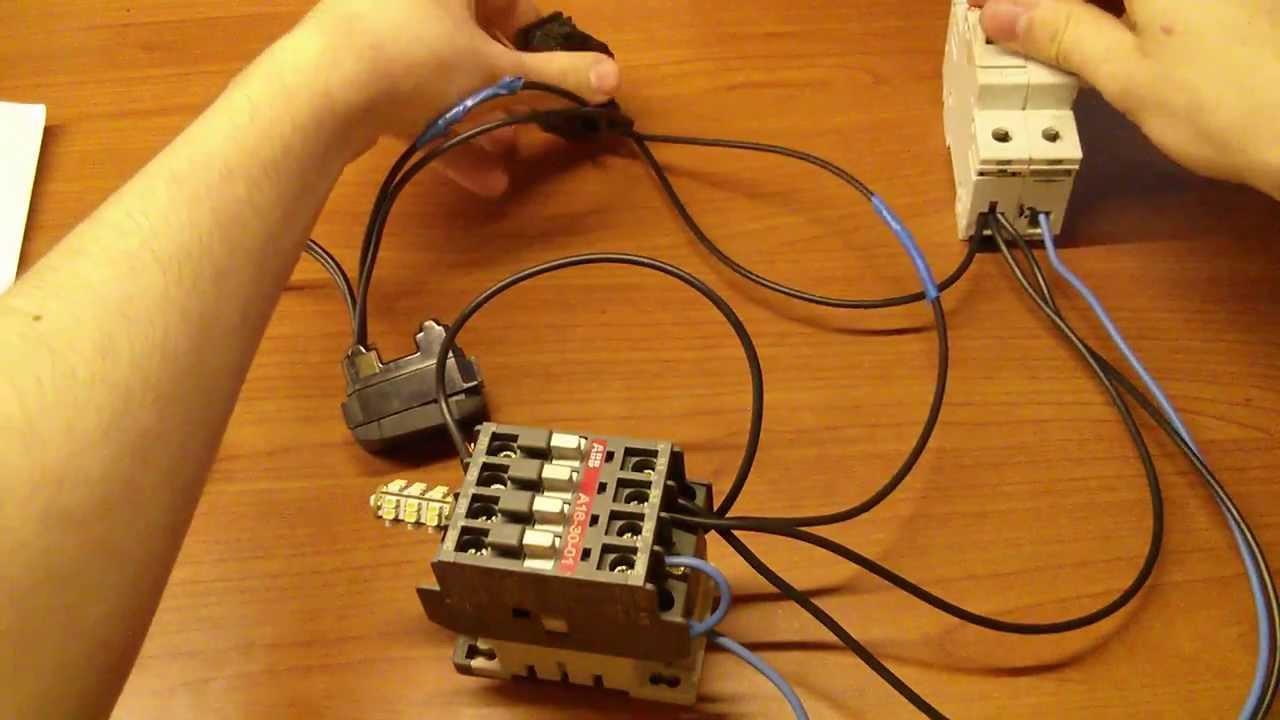 Collegamento di un contattore o teleruttore youtube for Teleruttore schema