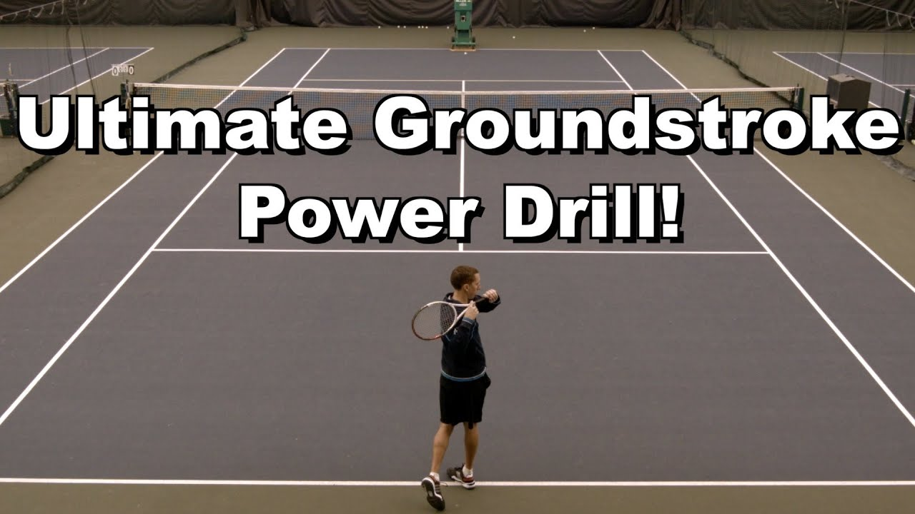 Tennis Forehand Groundstroke Drills Drill Forehand Tennis
