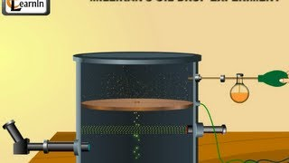 Millikan's oil drop experiment to determine charge of an electron - Chemistry