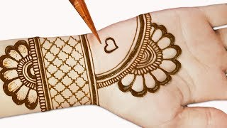 Easy mehndi designs for front hands - Simple Henna designs - Easy beautiful mehndi designs 2019