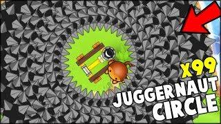 THE CIRCLE OF JUGGERNAUT IS BROKEN!! NEW HACKED DART MONKEY x99 // Bloons TD Battles (BTD Battles)