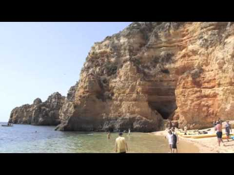 Lagos Beach Kayak on one of the Best Beaches in the Algarve Video | Portugal