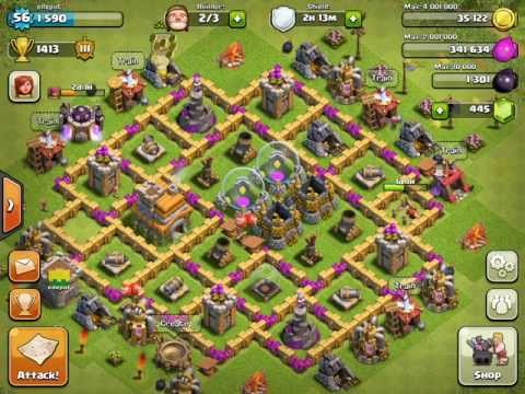 Clash of Clans - Best Lvl 7 Town Hall Defense (Early Stage)