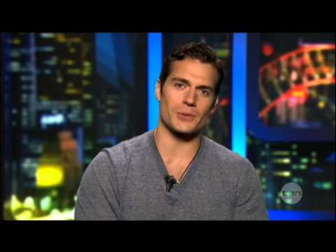 Henry Cavill interview on The Project (2013) - Man of Steel - Superman