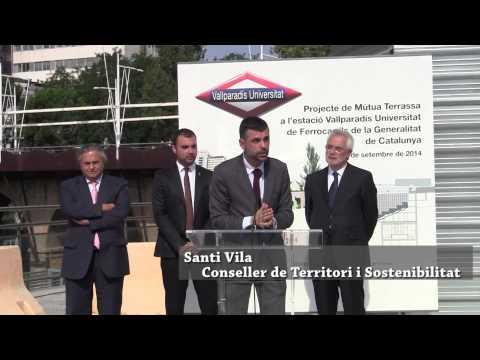 Santi Vila visita les obres de l'estació d'FGC de Vallparadís Universitat