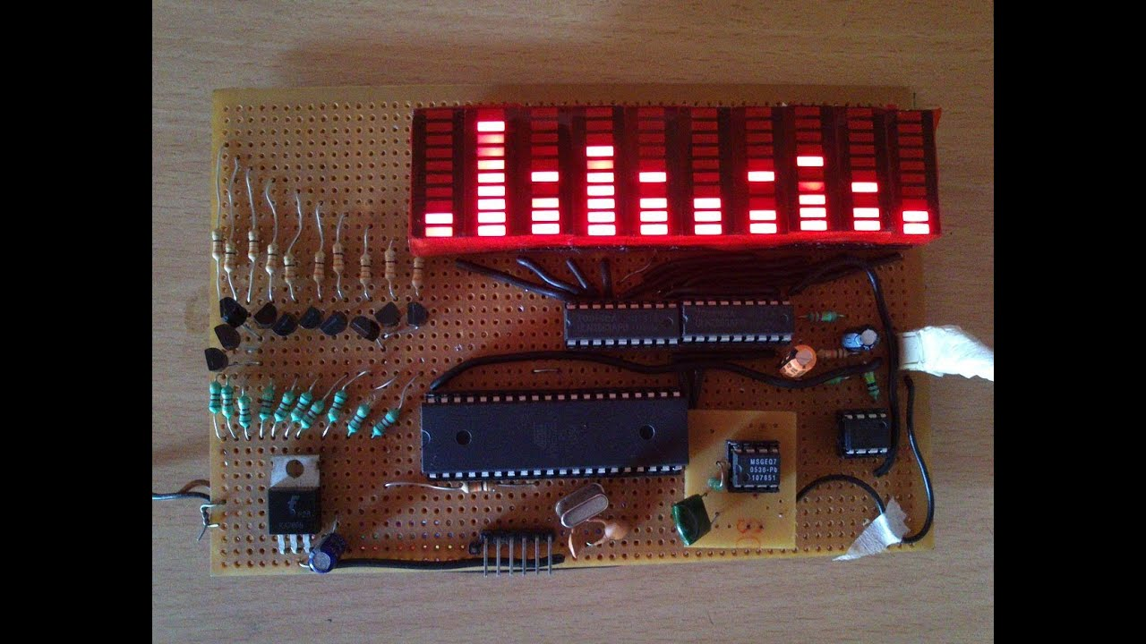 Аудио анализатор спектра схема 15 фотография