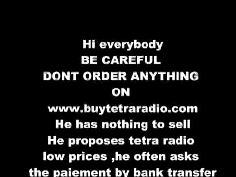 MOTOROLA TETRA RADIO WARNING FRAUD WWW.TETRARADIO.COM AND igenelectronics.co.uk