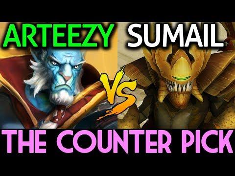 Arteezy Phantom Lancer VS Sumail Sand King Dota 2   The Counter Pick