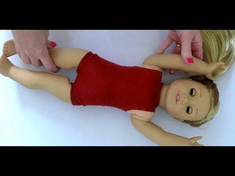 Doll Gymnastics Outfit   DIY American Girl Doll Crafts
