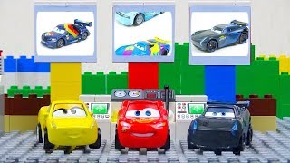 Mini Racers Experemental Cars. Disney Cars Toys Video for Kids Lightning McQueen Jackson Storm
