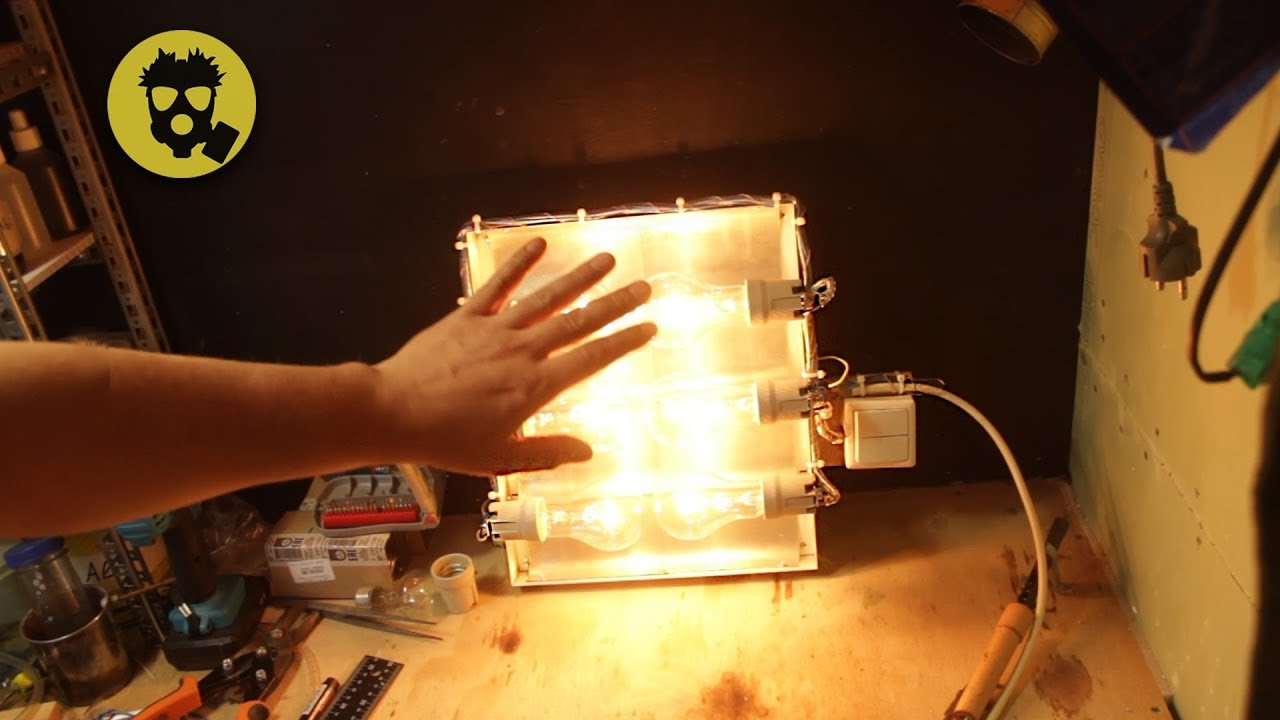 Обогреватель своими руками из лампочки 54