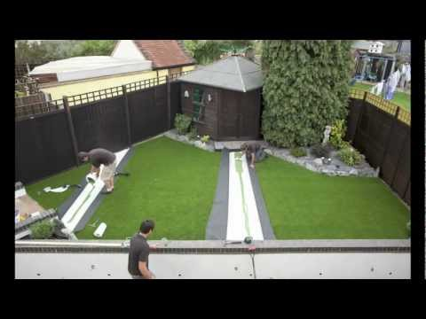 Artificial Grass Lawn Installation Youtube