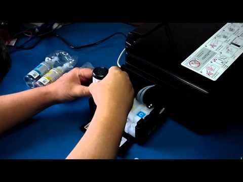 Epson L200: Abastecendo os tanques de tinta de tinta