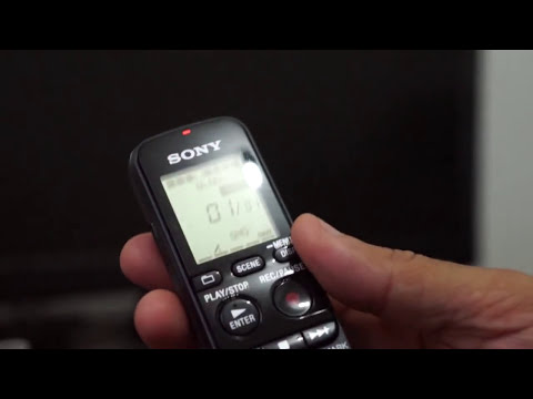 Unboxing e Teste - Gravador Digital Sony ICD-PX333